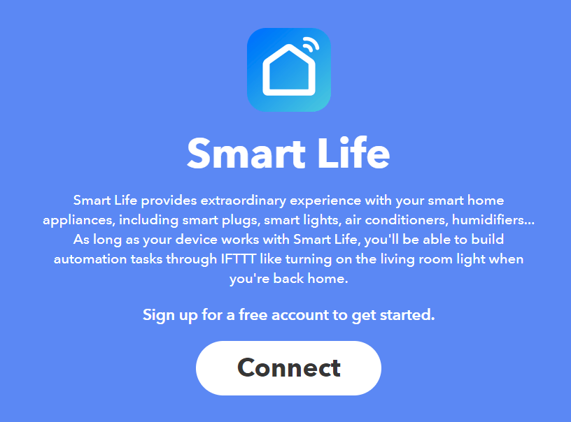 IFTTT Smart Life Connect